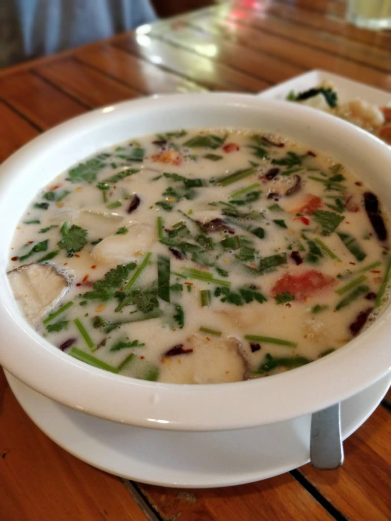 Spicy coconut Chicken soup (Tom Kha Gai)