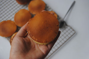 purple sweet potato dorayaki recipe