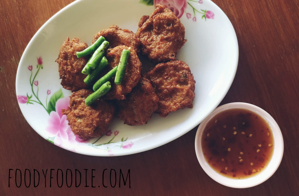 fried fish cake in thai style