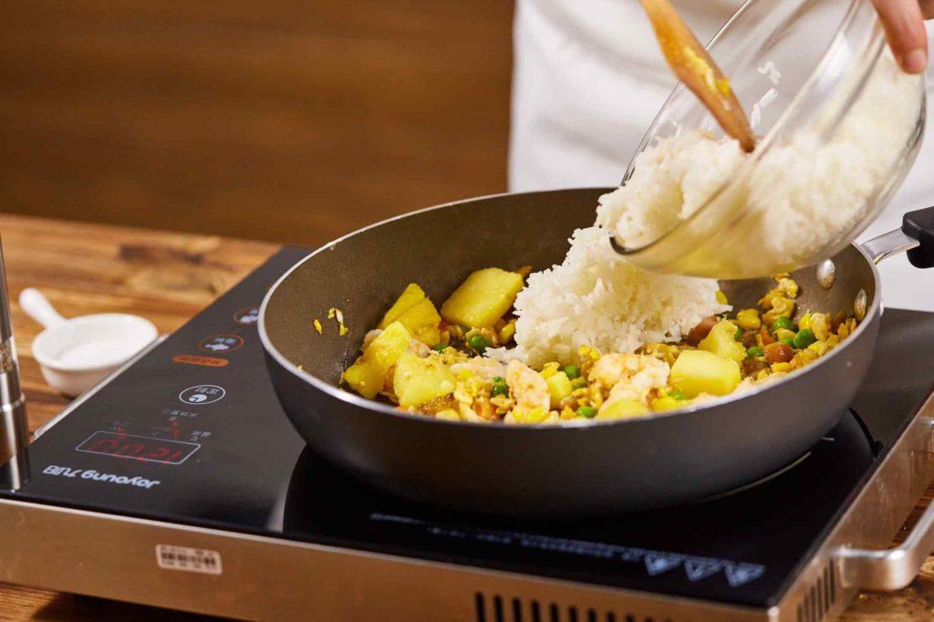 Thai style pineapple fried rice recipe